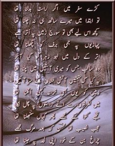 sad poetry by mohsin naqvi