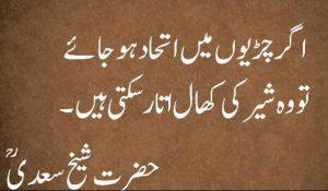 sheikh saadi hikayat in urdu