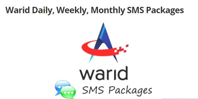 warid monthly sms package