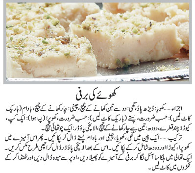 barfi recipe in urdu