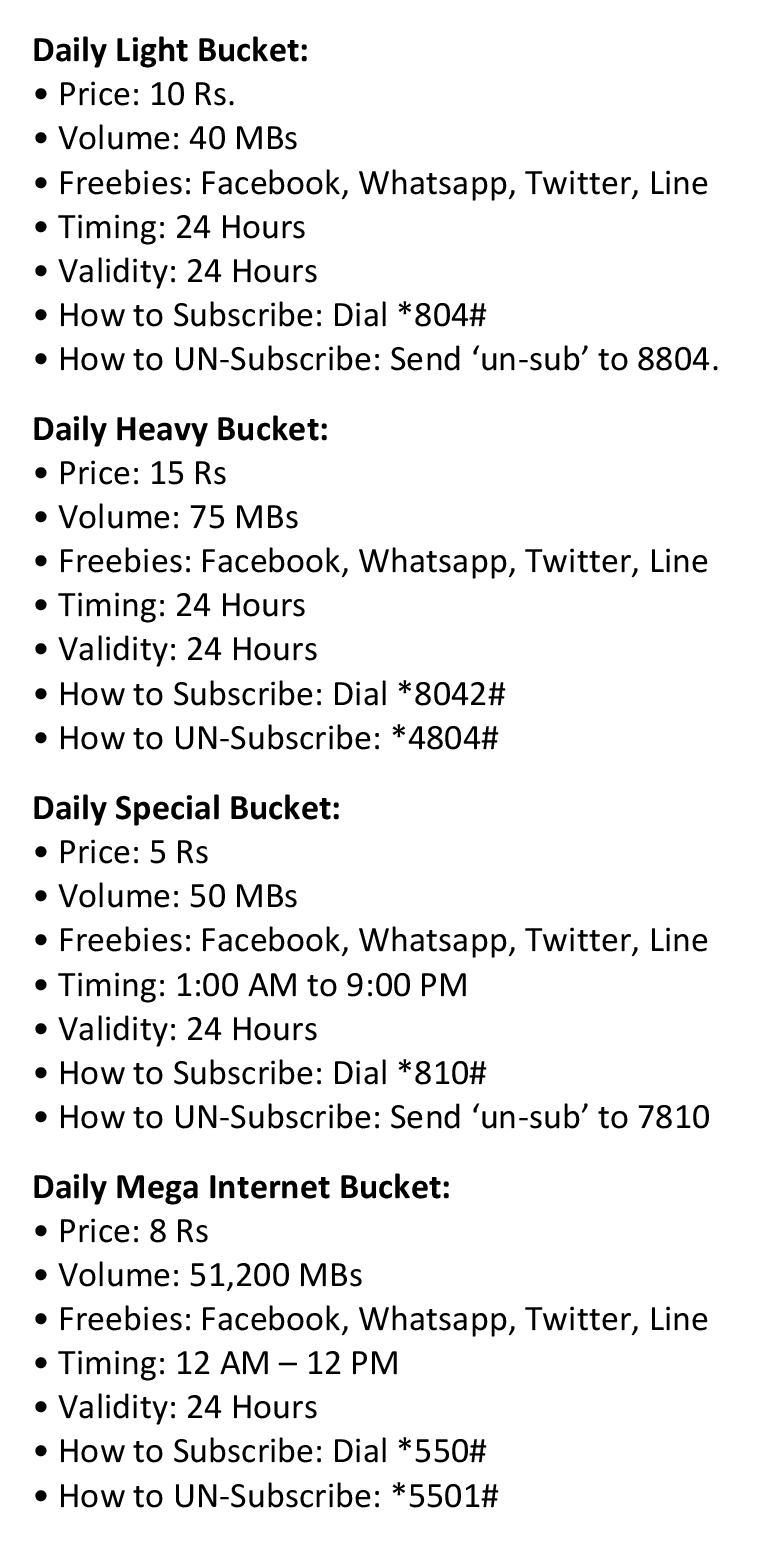 ufone daily 3g package