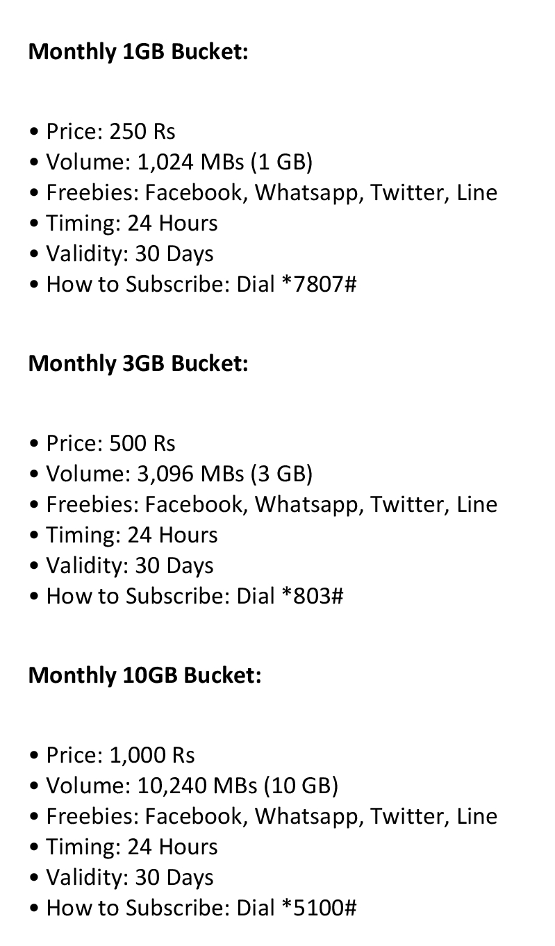 ufone monthly 3g package