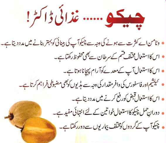 chikoo benefits