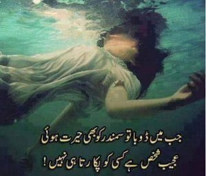 best 2 lines sad urdu shayari