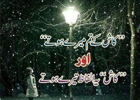 urdu sad shayari 2 lines